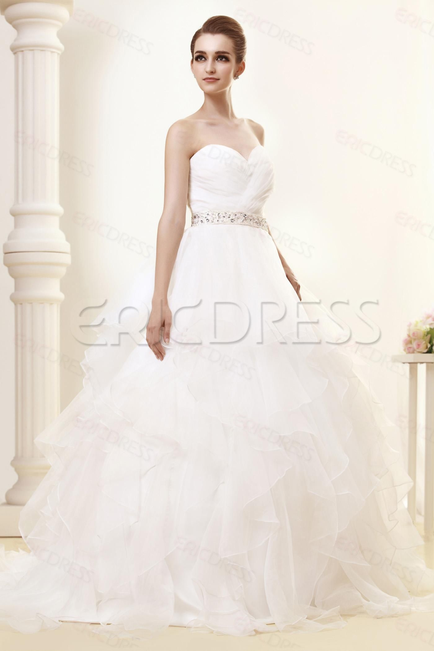Gorgeous sweetheart tiered chapel angerlikas wedding dressthis