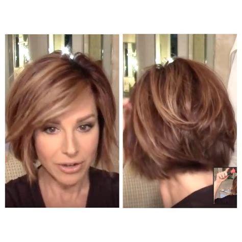 dominique sachse back view of short haircut pin on bob hair cut