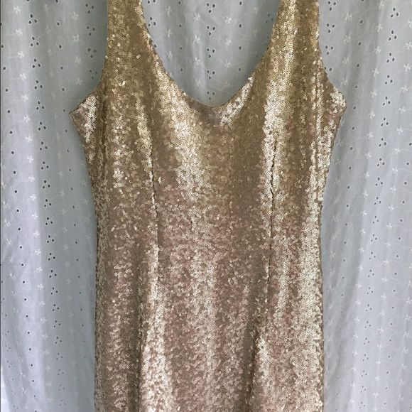 TOBI Gold Sequin Dress Size M, never worn, perfect condition. (Ordered online so no tags) Tobi Dresses