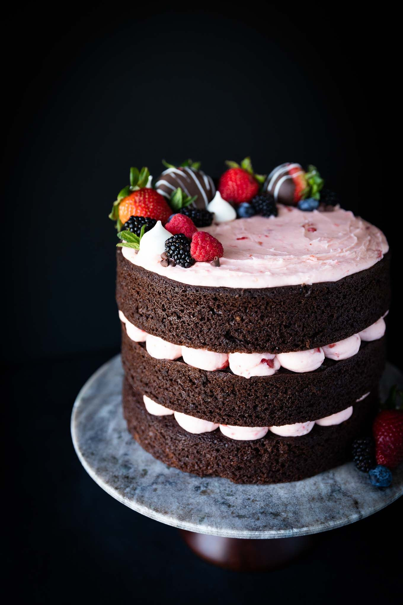 Chocolate Cake With Strawberry Buttercream Recipe In 2020