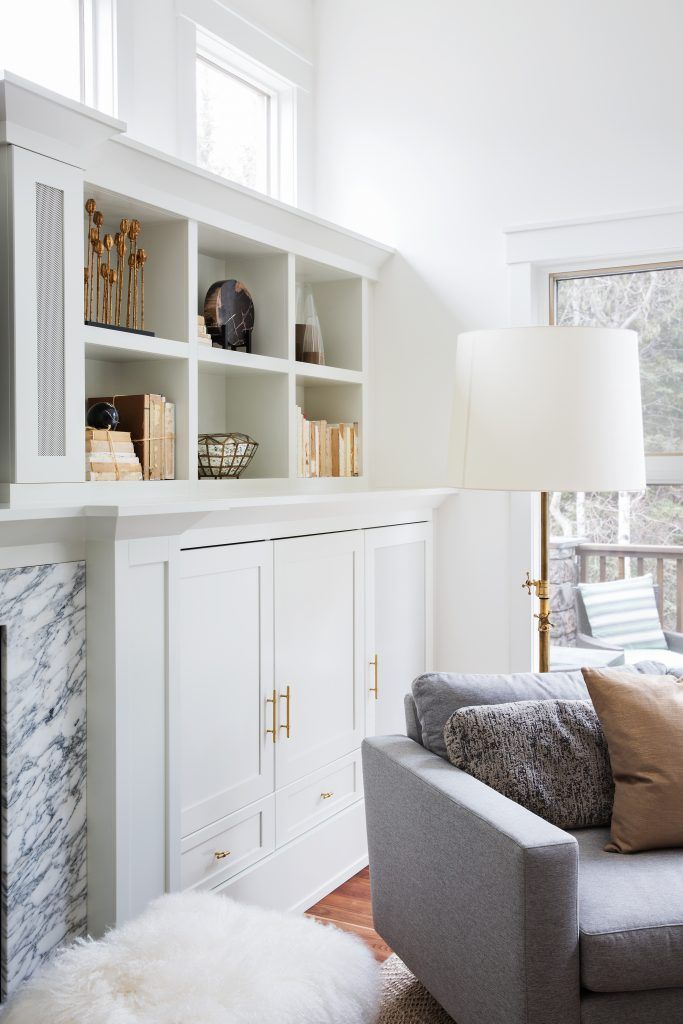Living room millwork and shelf styling and decor Calgary Interior ...