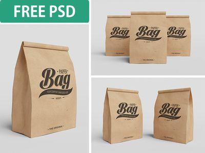 Download Paper Bag Psd Mockups Free Psd Disenos De Unas Diseno Social Empaques