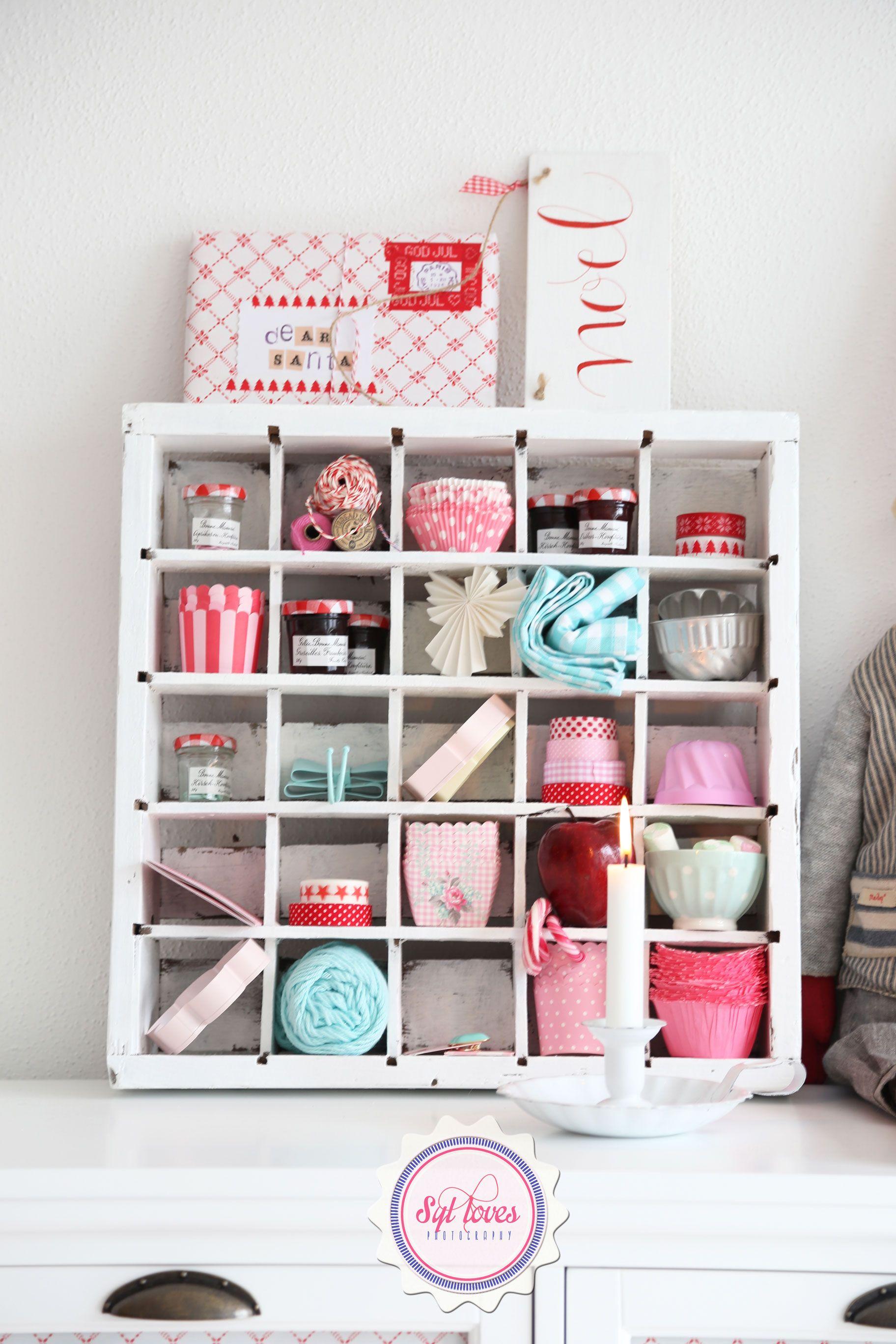 Syl loves, xmas, Ib Laursen, Maileg, vintage, red, mint, pink, white ...