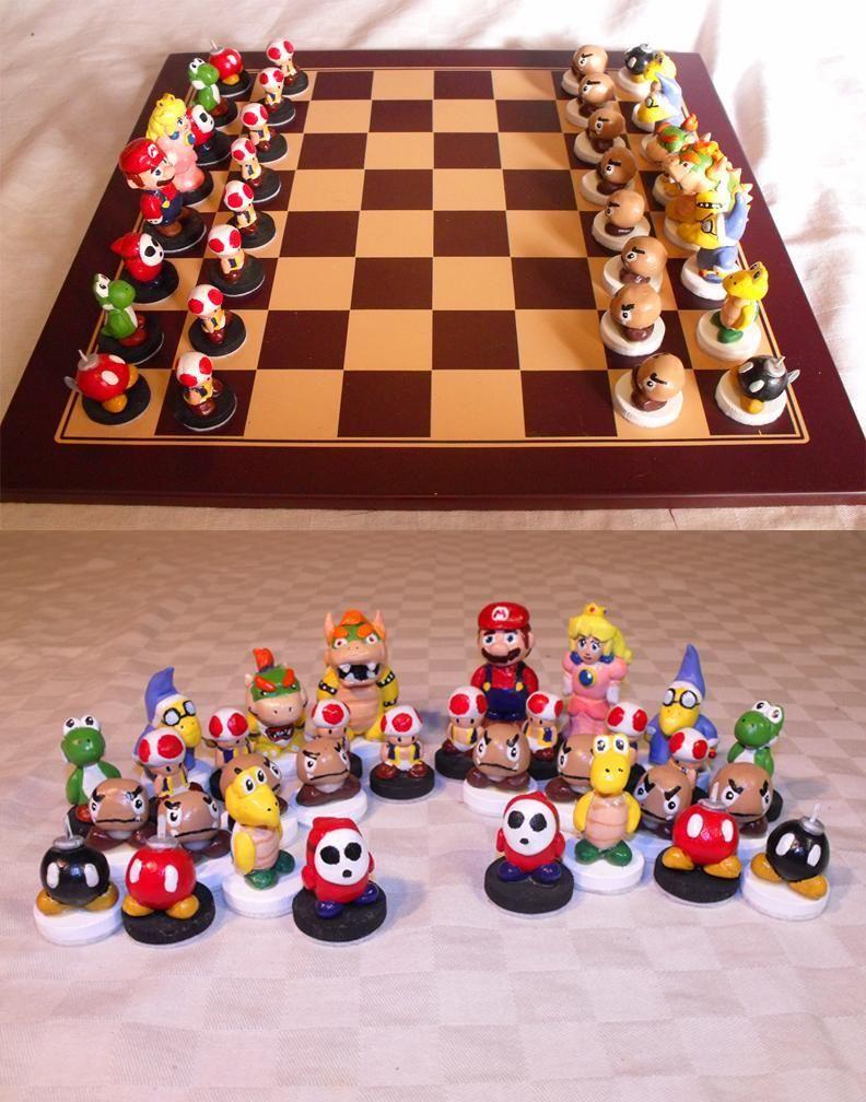 Mario Chess set @Paige Hereford Huffstutler @Summer Olsen Olsen Huffstutler