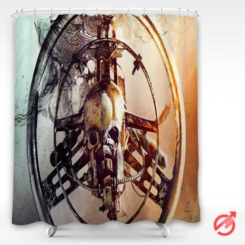 Cheap Movie Mad Max Fury Road Skull Mask Iron Shower Curtain Cheap