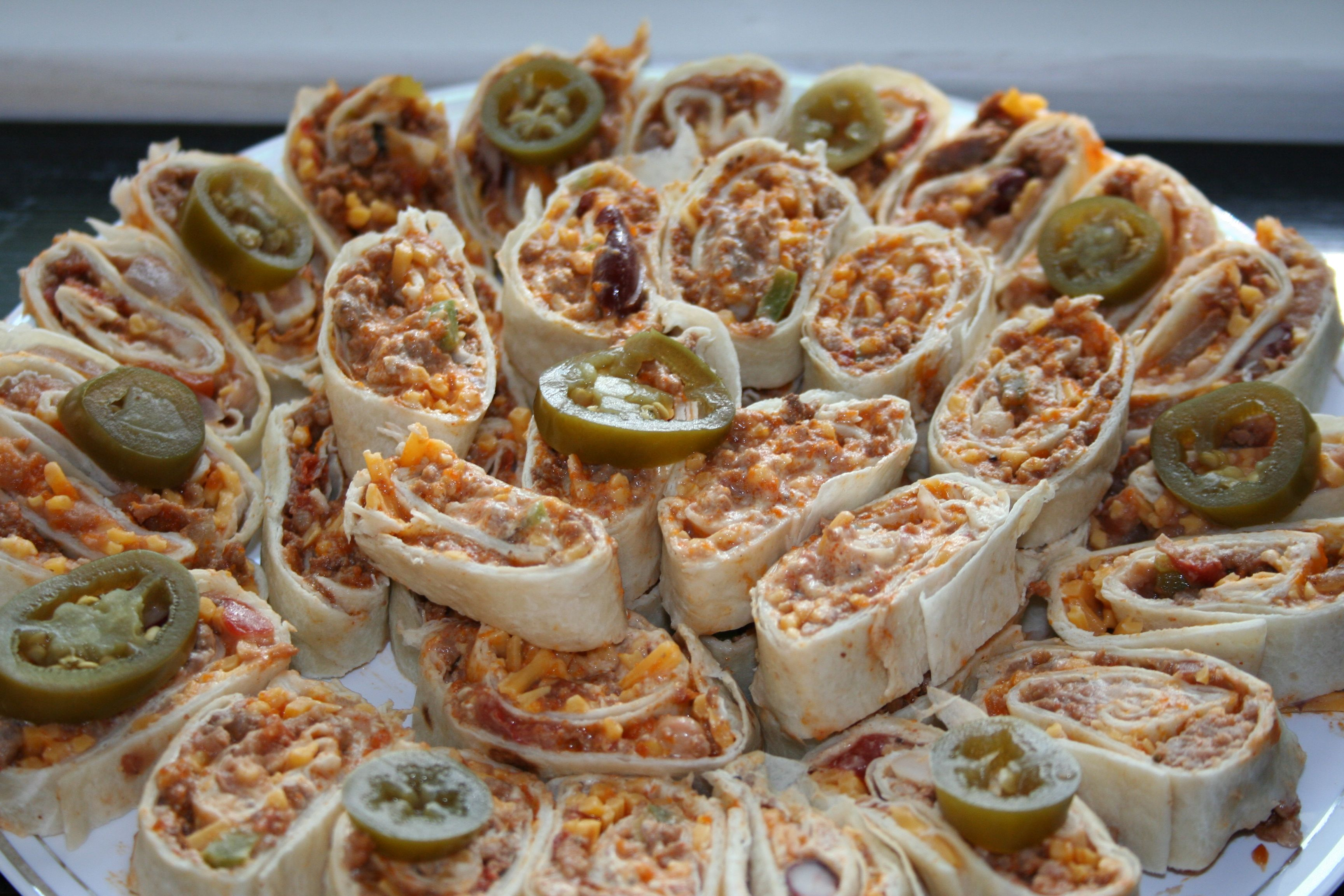 Green Chile Pinwheels (Roll Ups) Contributed by Danielle, Rio Rancho ...