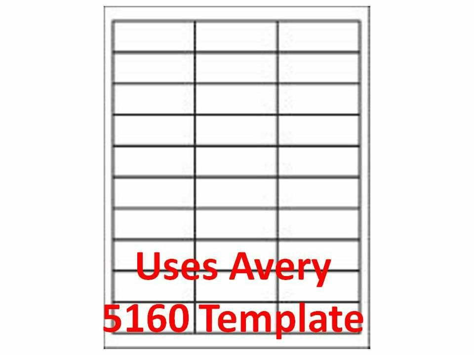 Avery Label Template 5960 3000 Laser Ink Jet Labels 1 X 2 5 8 30up Address Label Templates Address Label Template Printable Label Templates