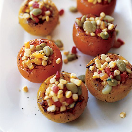 Heirloom Tomatoes Stuffed with Summer Succotash | Food & Wine