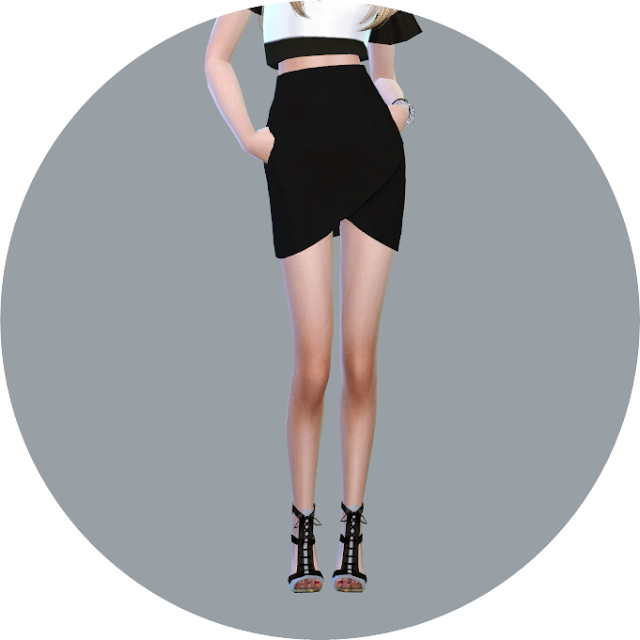 Sims 4 CC's - The Best: Tulip Skirt & Wave Hot Pants by Marigold