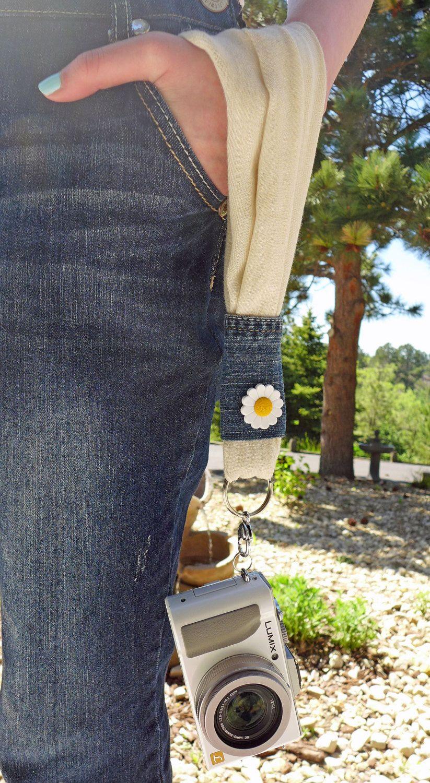 Scarf Wristlet Camera Strap by LivingInMonument on Etsy
