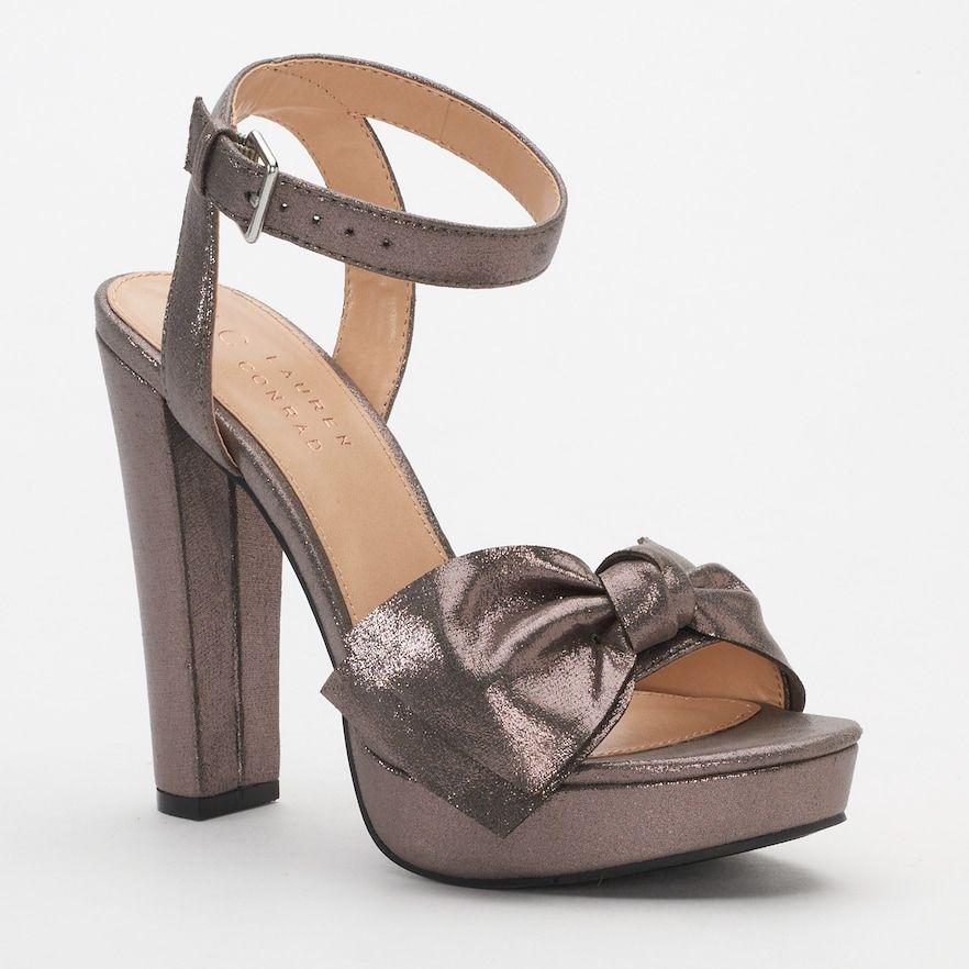 NEW Womens LC Lauren Conrad Sz 9.5 Bow High Heel Sandals