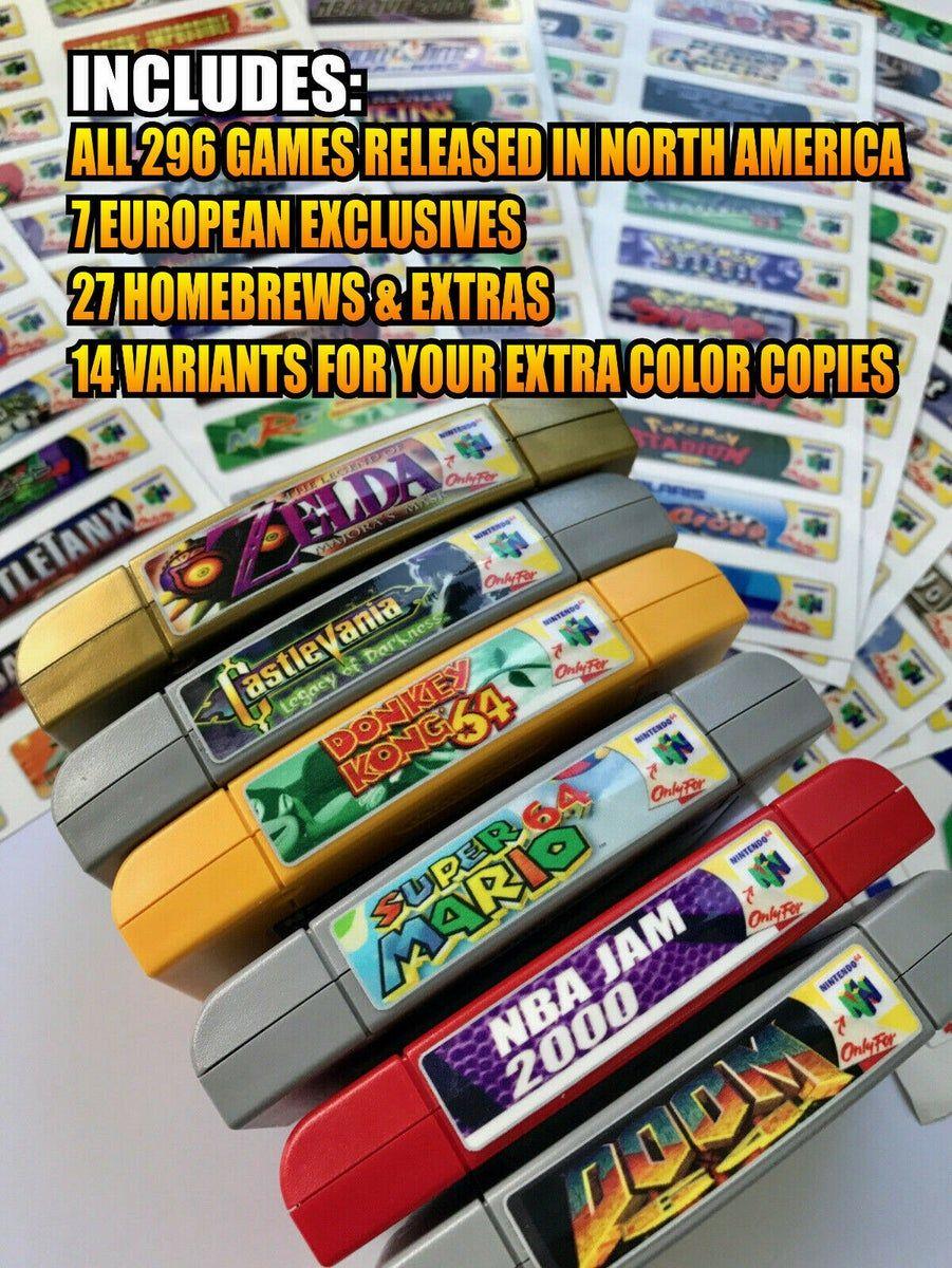 Nintendo 64 End Labels Custom Labels Printing Labels Nintendo 64 Games
