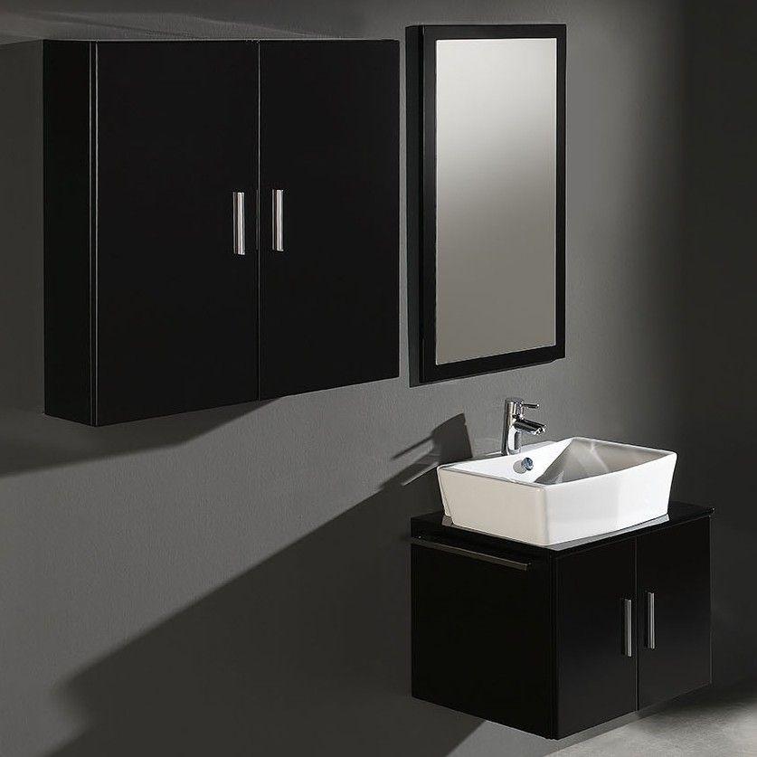 Conjunto mueble de ba o mix negro imaginedec tienda online de decoraci n muebles de ba o - Mueble bano online ...