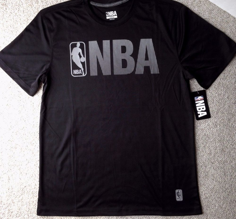 c501015e0288c4 New 28 Men DRY-FIT POLYESTER NBA LOGO T-SHIRT Activewear BLACK   REFLECTIVE  GRAY  NBA  ShirtsTops
