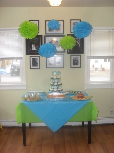 Turquoise Lime Green Baby Shower Party Ideas Baby Shower Baby