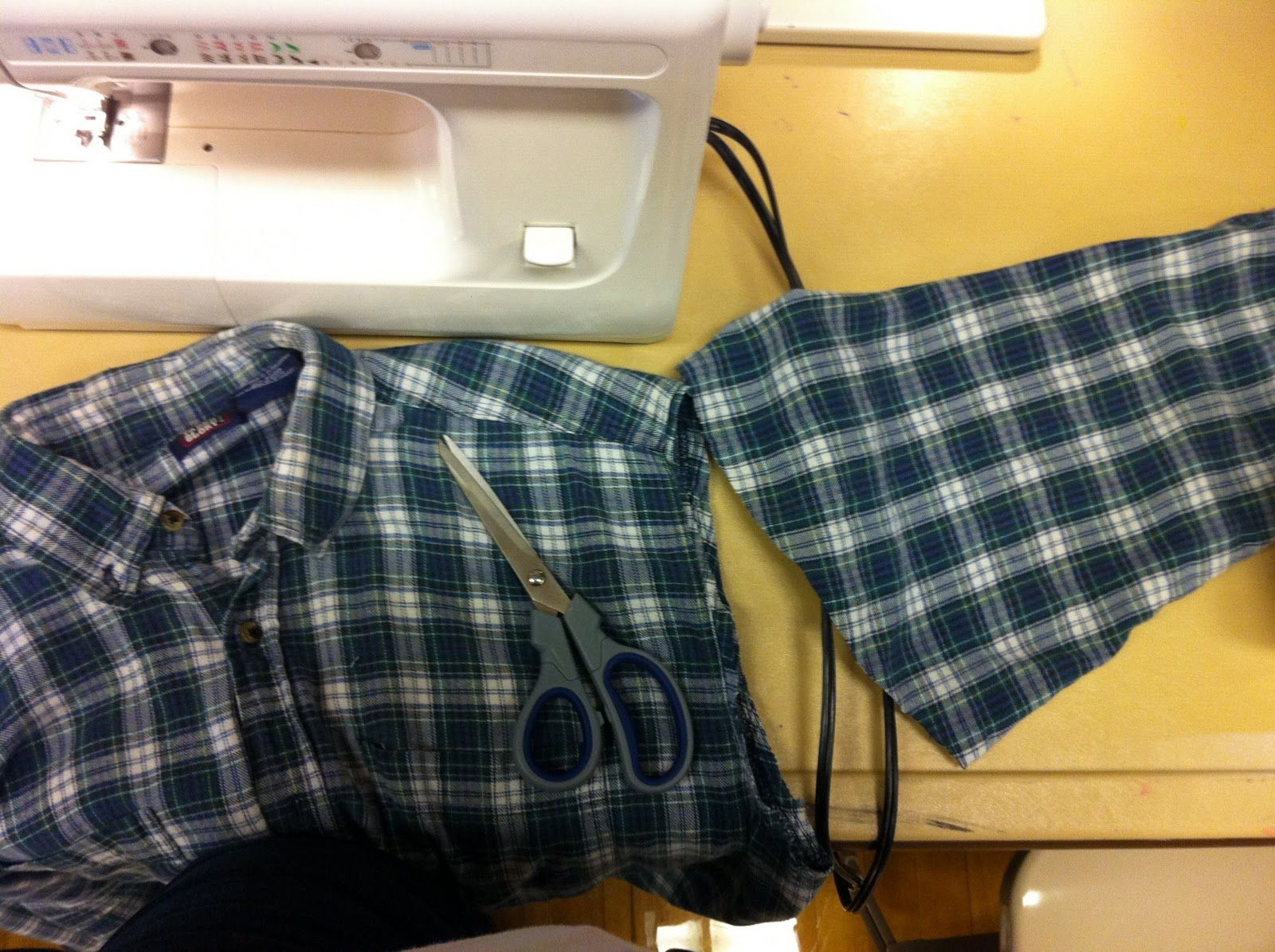 Flannel shirt apron  making an apron from a flannel shirt  Savvy Life EASY Recycled