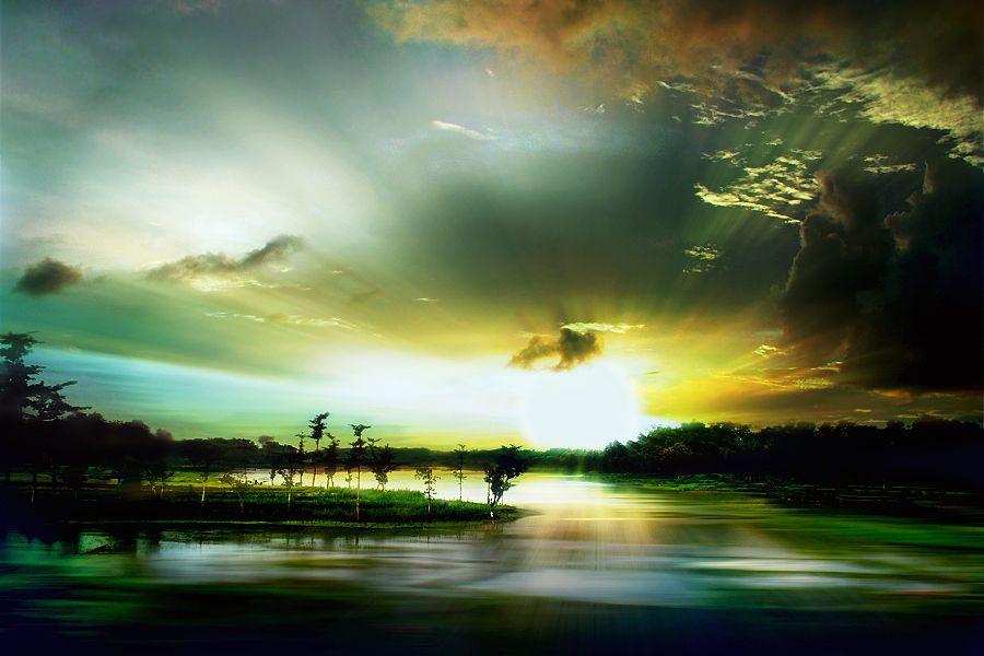 Morning in Waduk Gajah Mungkur by 3 Joko