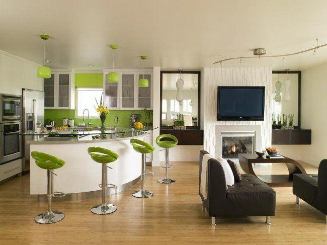 Cuisine ouverte sur le salon u2013 25 idées modernes et pratiques - idee bar cuisine ouverte
