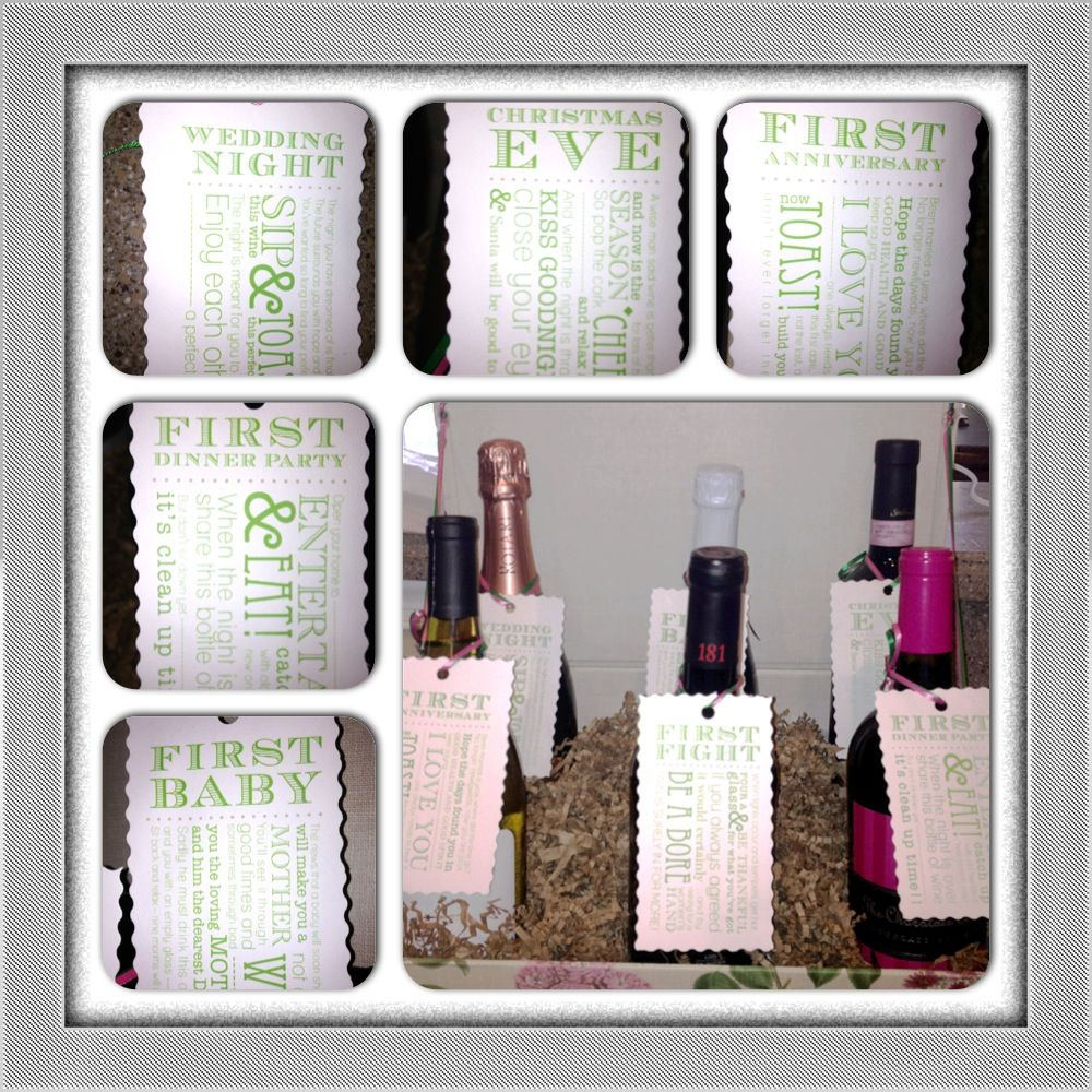Wedding Night Gift For Bride: Wine For Each Occasion In Their Future, Like Wedding Night, First Anniversary, First Baby, Etc