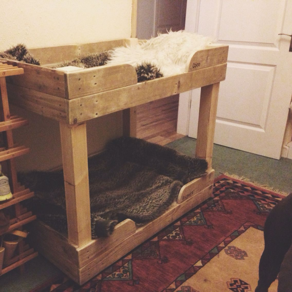 Our Handmade Dog Bunk Beds Made Primarily From Free Reclaimed Pallet Wood And Complete