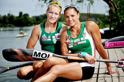 Hungarian Ambiance: The Hungarian Olympic Canoe-Kayak team flew to London on Saturday