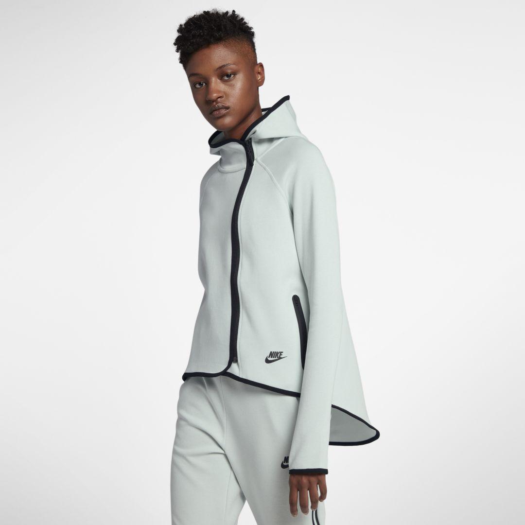 fc6a88eb0911 Nike Sportswear Tech Fleece Women s Full-Zip Cape Size L (Barely Grey)