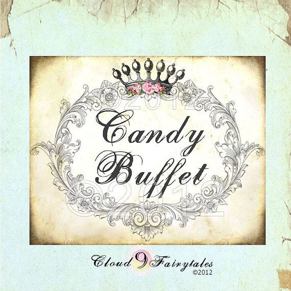 Free Printable Candy Buffet Labels   Buffet Sign - Candy Bar - Labels - wedding Decoration - Wedding print ...