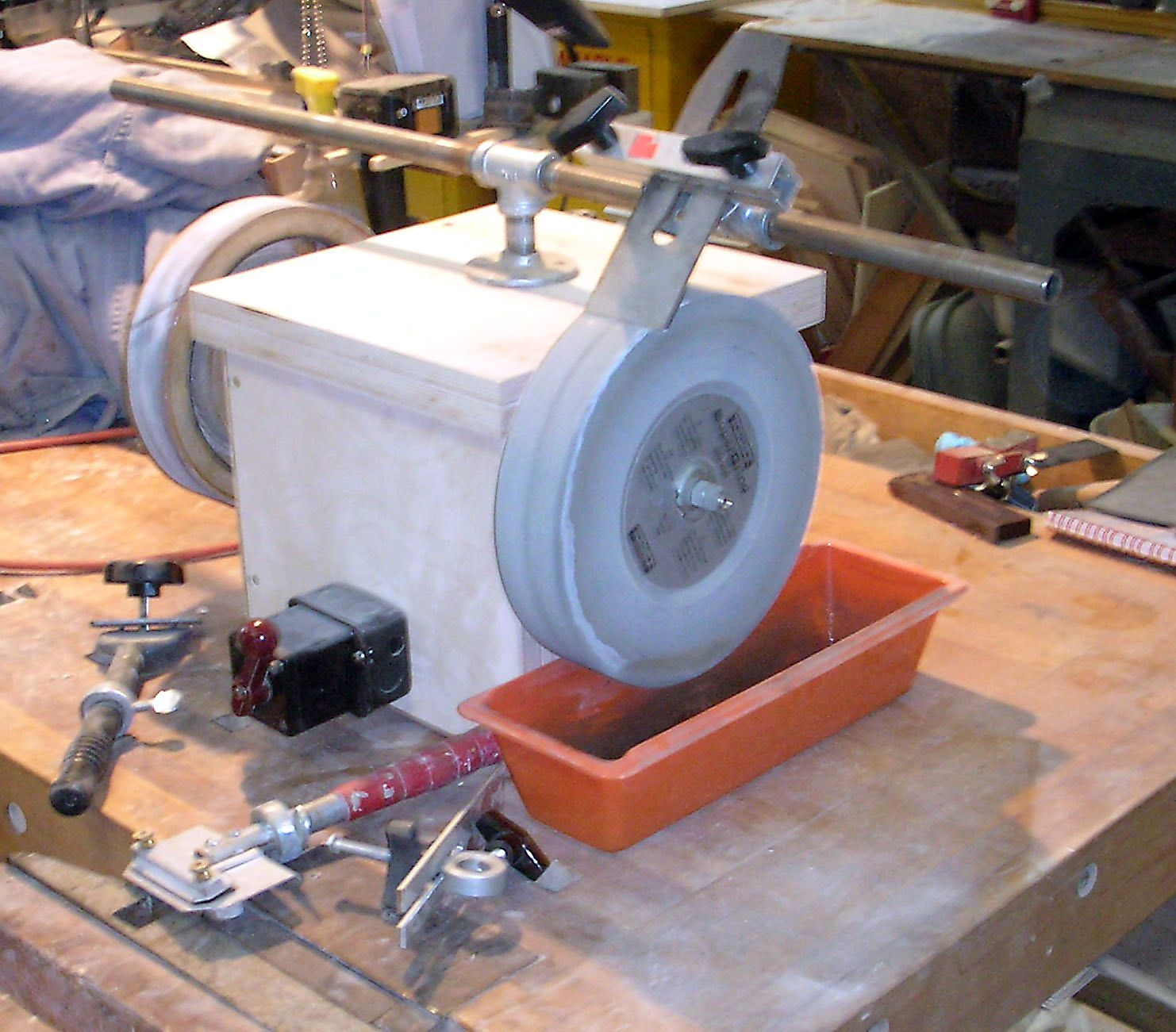 Diy tormek sharpening system more versatile then for Bench tool system
