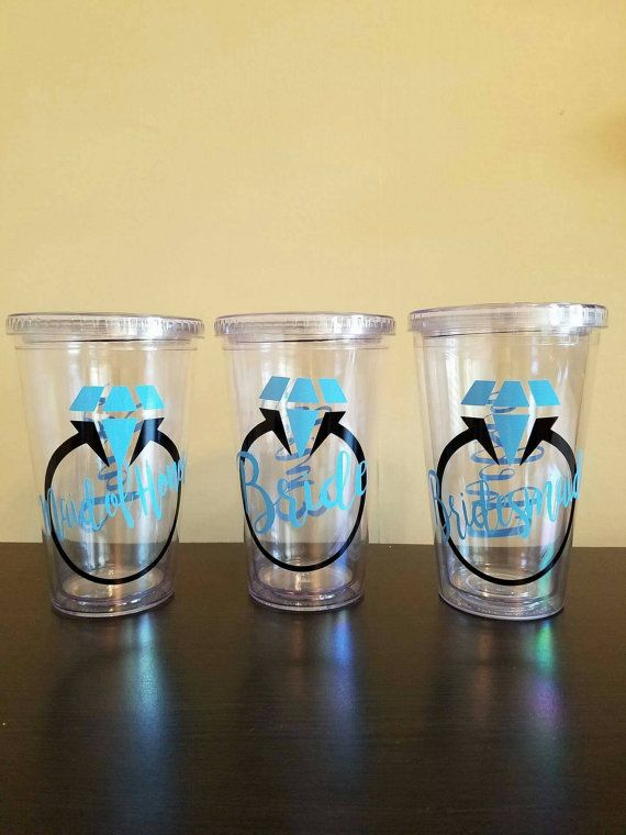 Personalized acrylic tumbler monogrammed cup custom design travel tumbler with lid and straw vinyl decal novelty sport wedding favor