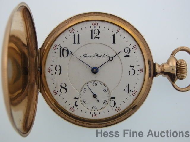 Antique Genuine Illinois 3 Finger Bridge 17J 16s Mens Hunter Pocket Watch to Fix