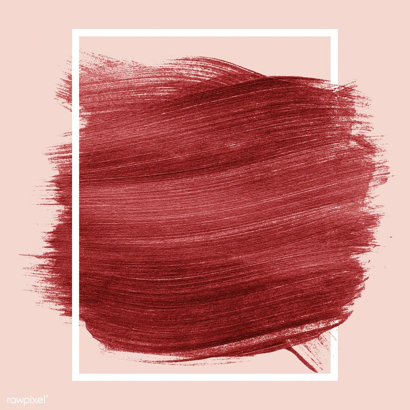 Red shimmery brush stroke badge free image by rawpixel
