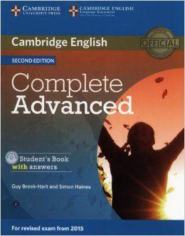 Complete Cae Certificate Advanced English Students Book With Answers Brook Hart Guy Consulta Su Disponibilidad En Ht Cambridge English Books English Book