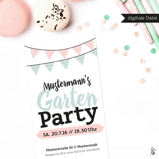 Printable / Gartenparty Einladung / PDF PRINTABLE