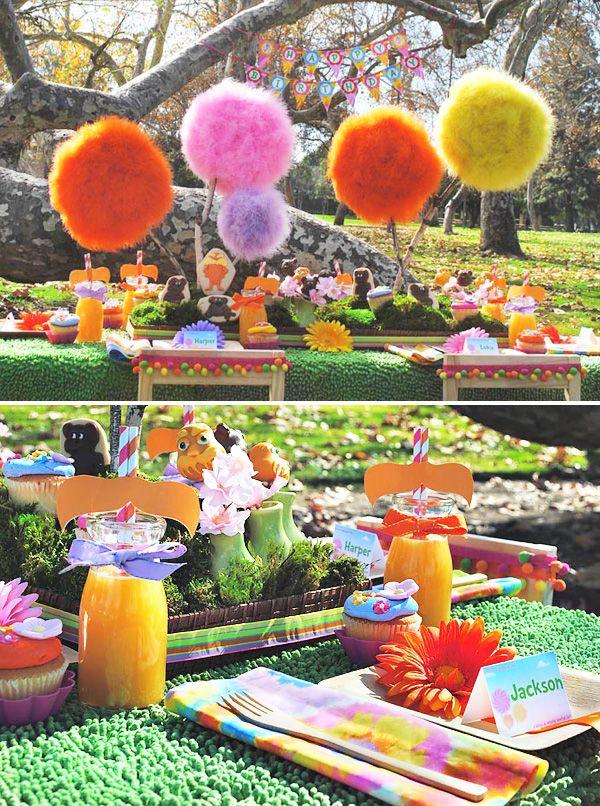 Amazing Lorax Party + DIY Truffula Trees