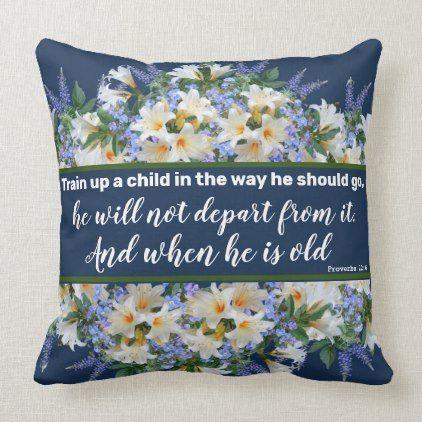 Spring Flowers Purple Blue Childs Space Room Decor Throw Pillow | Zazzle.com -   16 room decor Purple blue ideas
