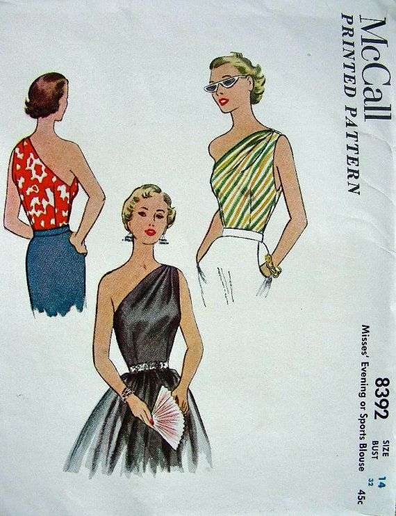 RARE Vintage 50\'s Sewing Pattern McCall\'s 8392 by anne8865 | Arts ...