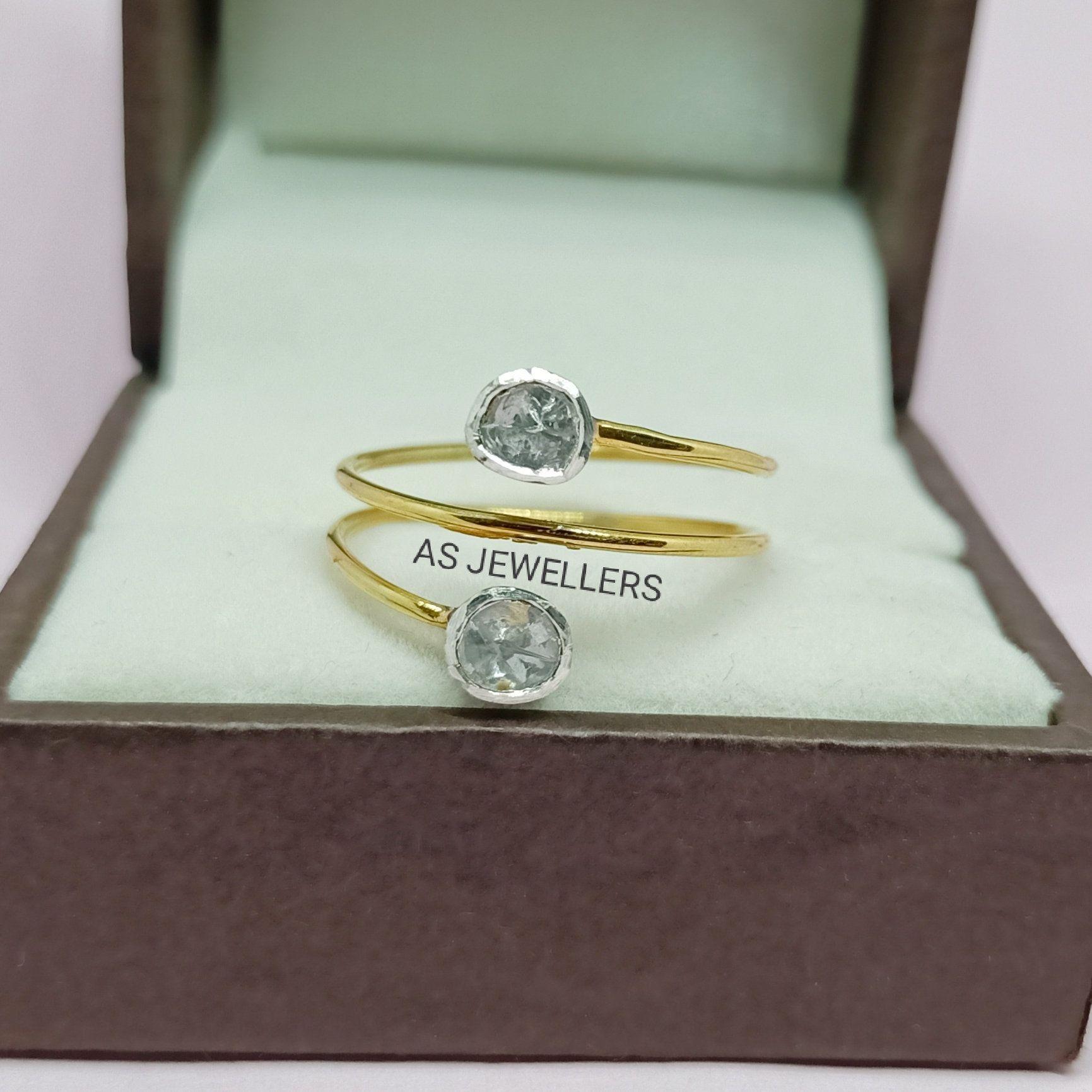 Stunning Natural RoseCut Polki Diamond Rings 925 Silver Rings Diamond Ring Polki Handmade Ring Diamond Jewelry Gift For Her Christmas Ring