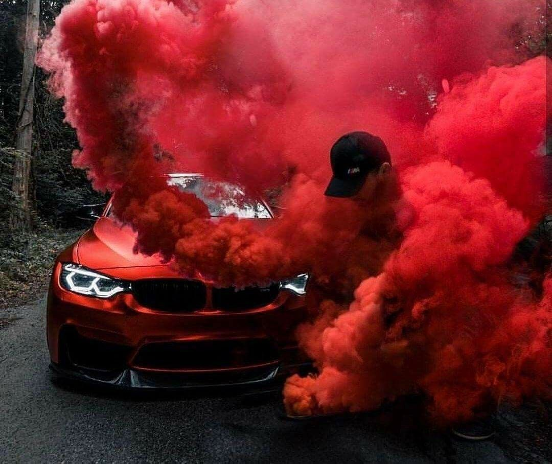 BMW F82 M4 red smoke | Lamborghini cars