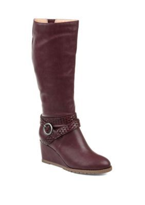a8fe441036e13 Journee Collection Women's Comfort Extra Wide Calf Garin Boots - Wine Extra  Wide Calf - 10Ww