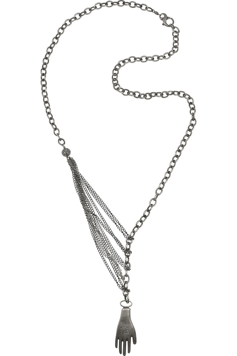 Irit Design Oxidised Sterling Silver Chain Necklace 174 ct