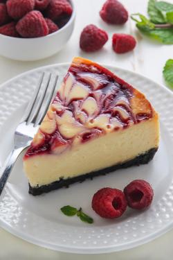"""verticalfood:  """" White Chocolate Raspberry Cheesecake  """""""