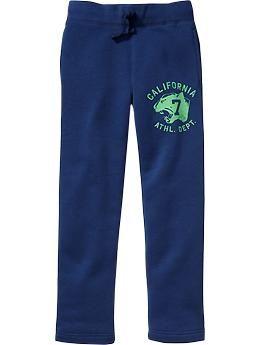Boys Graphic Fleece Slim-Fit Pants