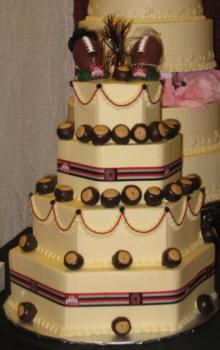 football themed wedding cakes ohio state buckeyes brutus ohio state buckeyes wedding 14394