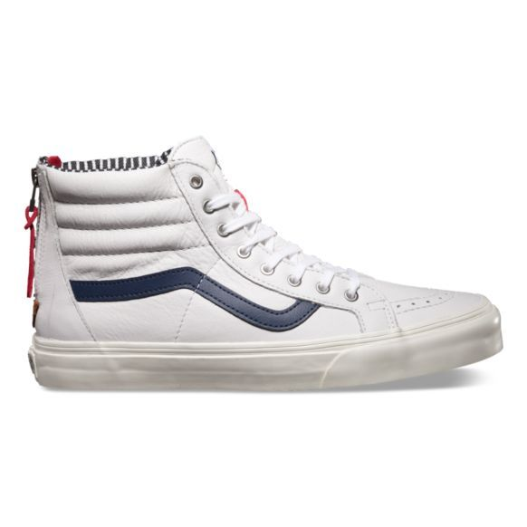 b626a4e49b Vans SK8-Hi Zip CA - Varsity Stripe True White