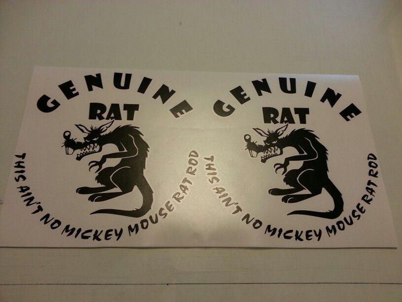 Genuine Rat Rat Rod Door Decals By Fireblade Graphics
