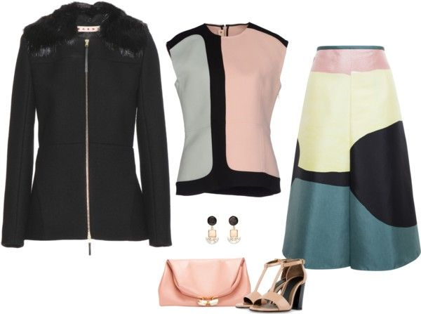 SevenRoses: Marni, Abstract Printed Skirt