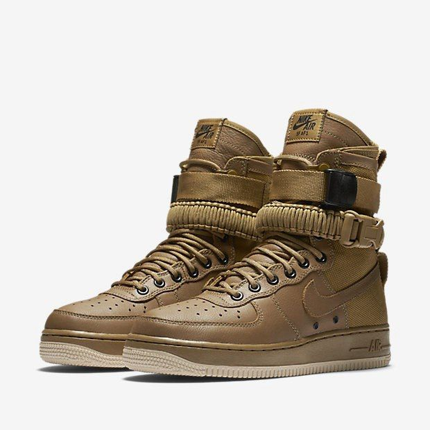 detailed look c313a 3c318 Nike Special Forces Air Force 1 Boots Dark Brown 10592. Factory Nike Air  Max 2017 Netflix LUNARLUNCH Royal Blue Black Sports Shoes Shop Online ...
