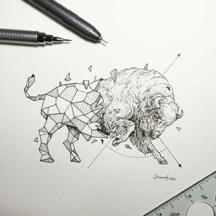 Idees Pour Les Tatouages Dessins Geometriques Par Kerby Rosanes
