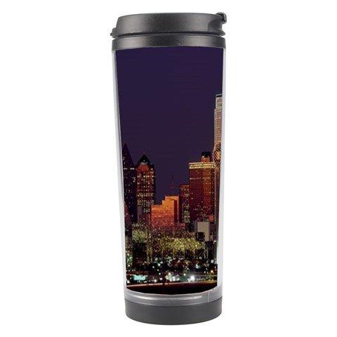 Dallas Skyline At Night Travel Tumbler