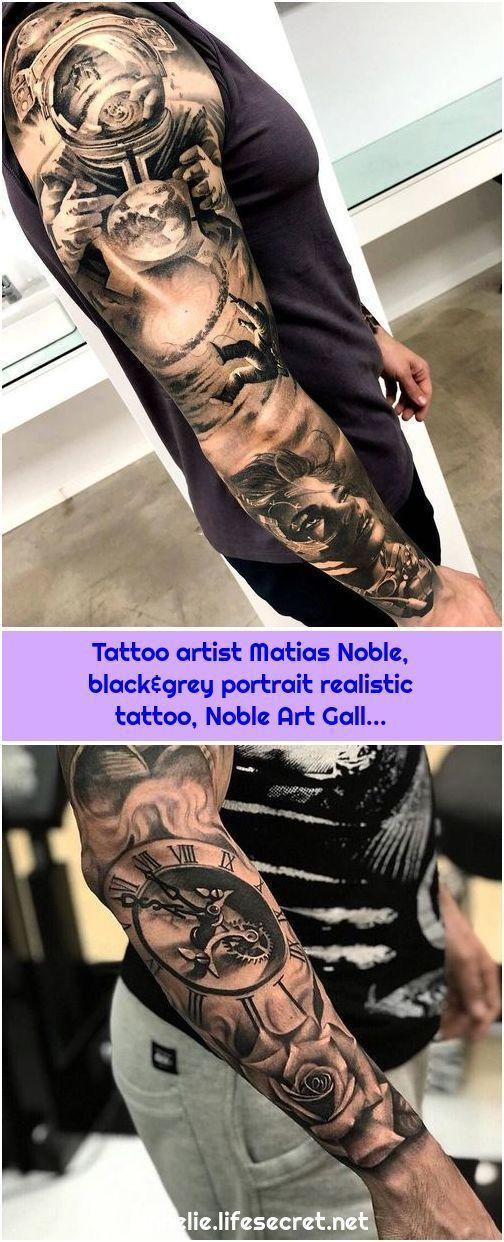 Tattoo artist Matias Noble, black & gray portrait realistic ta - Tattoo artis - Tattoo artist Matias